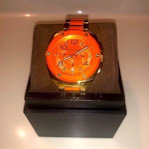 Michael Kors Tribeca Chronograph Gold-Tone Orange
